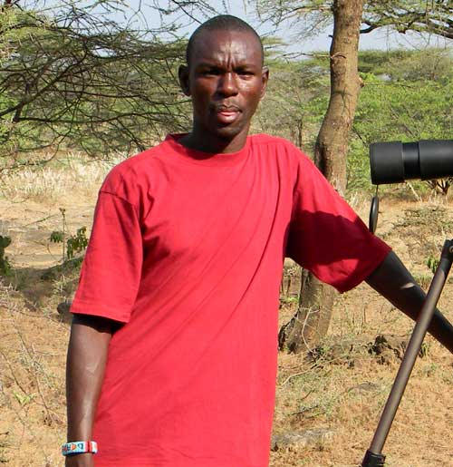 Julius Rutto is a guide working especially Lakes Baringo and Bogoria, Kenya, photo © by Michael Plagens