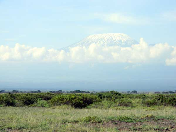 Kilimanjaro as seen from Amboseli, Kenya, photo © by Michael Plagens